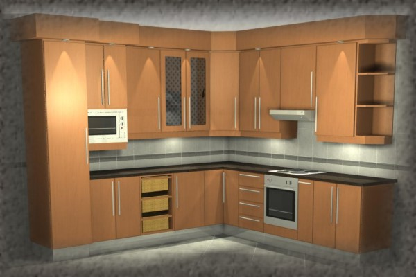 Melamine kitchens for Kitchen designs pretoria