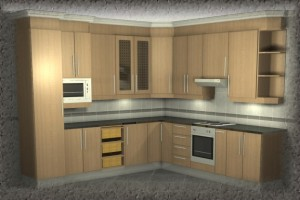 Melamine kitchens for Basic kitchen cupboards